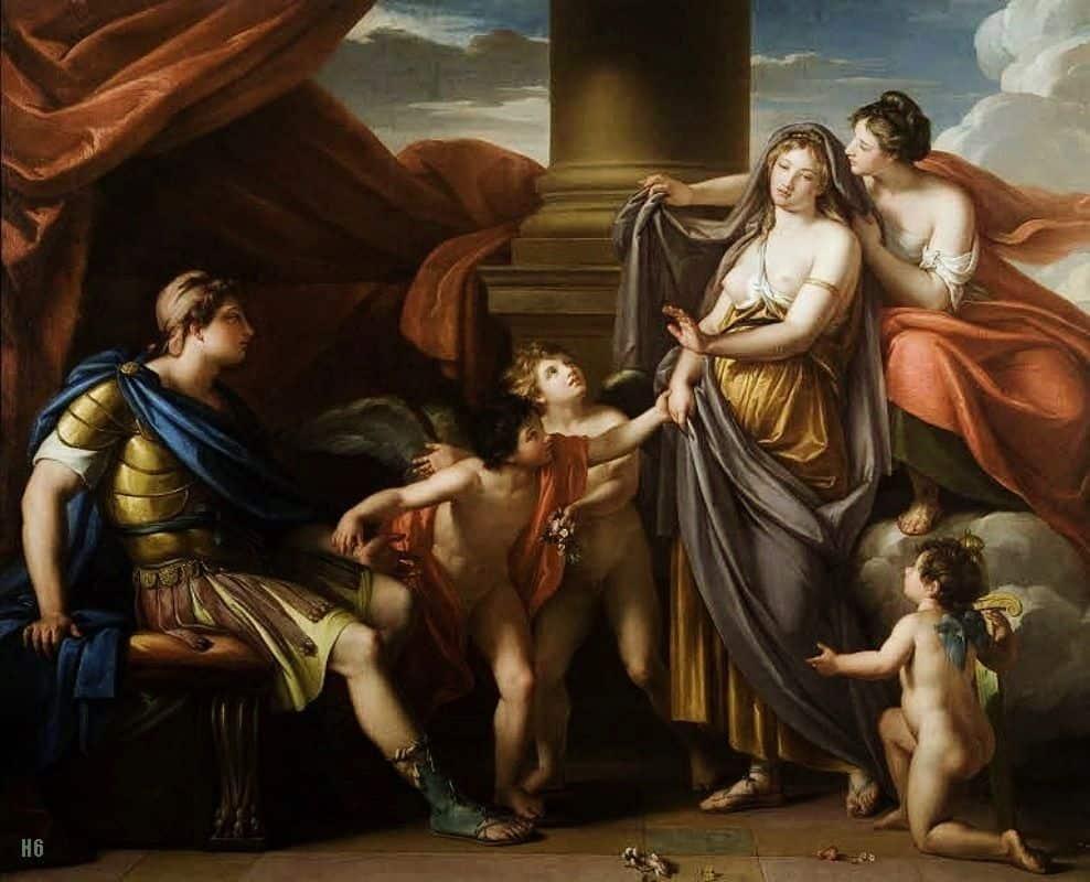 אפרודיטה מציגה את הלנה בפני פאריס, גאווין המילטון