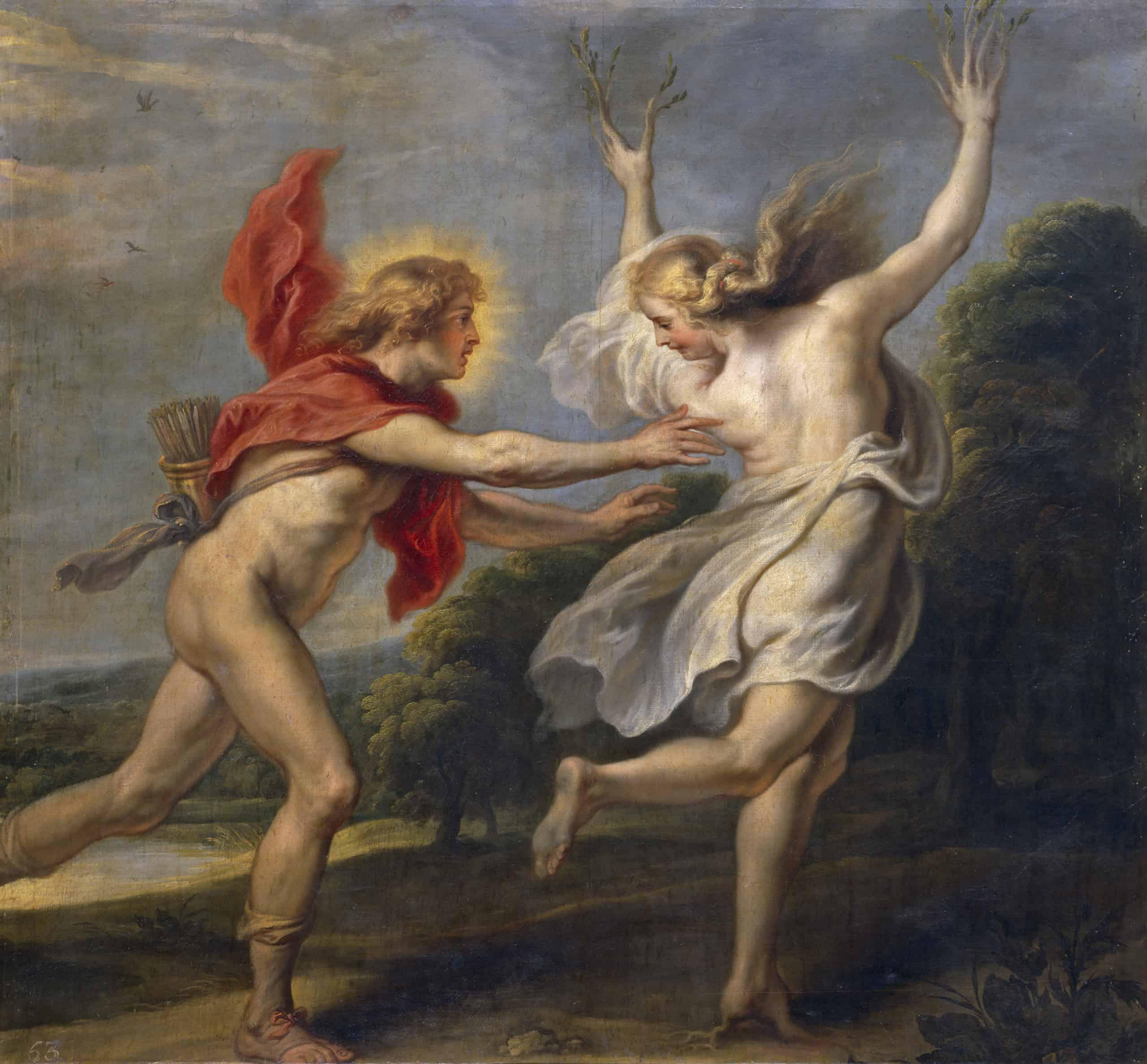 אפולו רודף אחרי דפני, קורנליס דה ווס