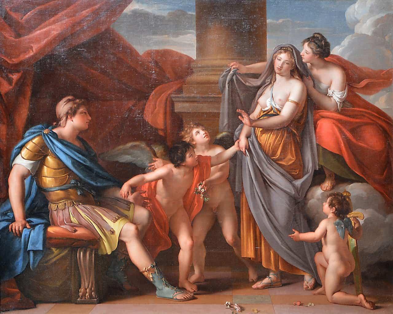אפרודיטה מציגה את הלנה לפאריס