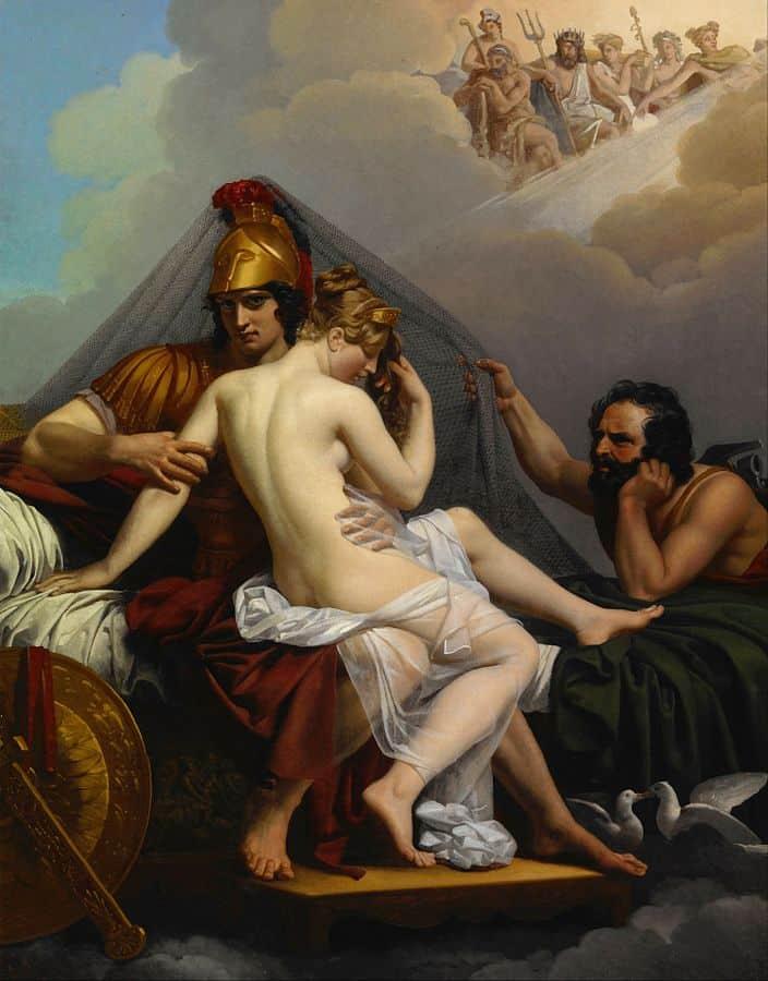 מרס וונוס מופתעים על ידי וולקן. אלכסנדר שארל גולימו
