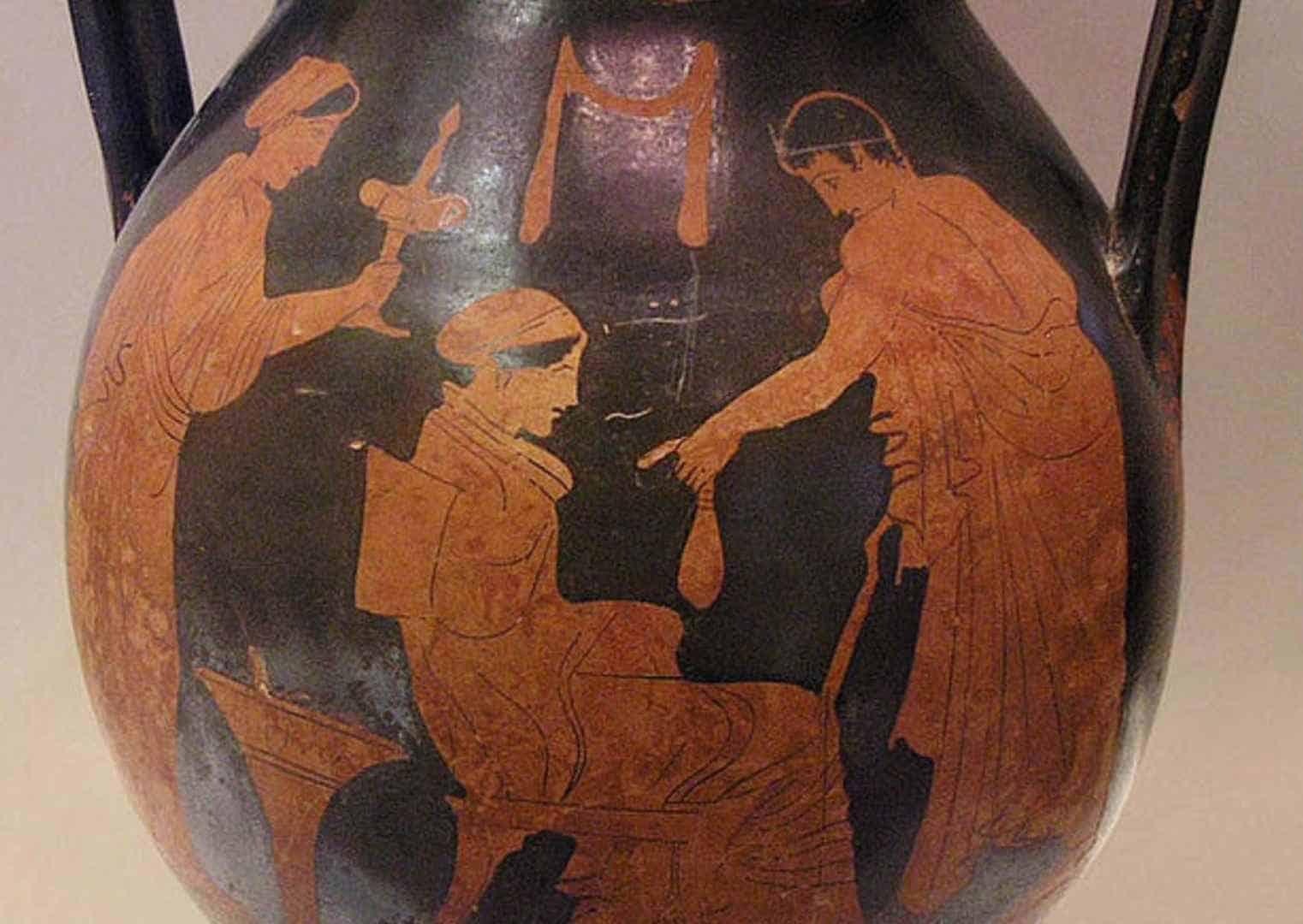 """אתנן לזונה, כד מהמאה ה-5 לפנה""""ס"""