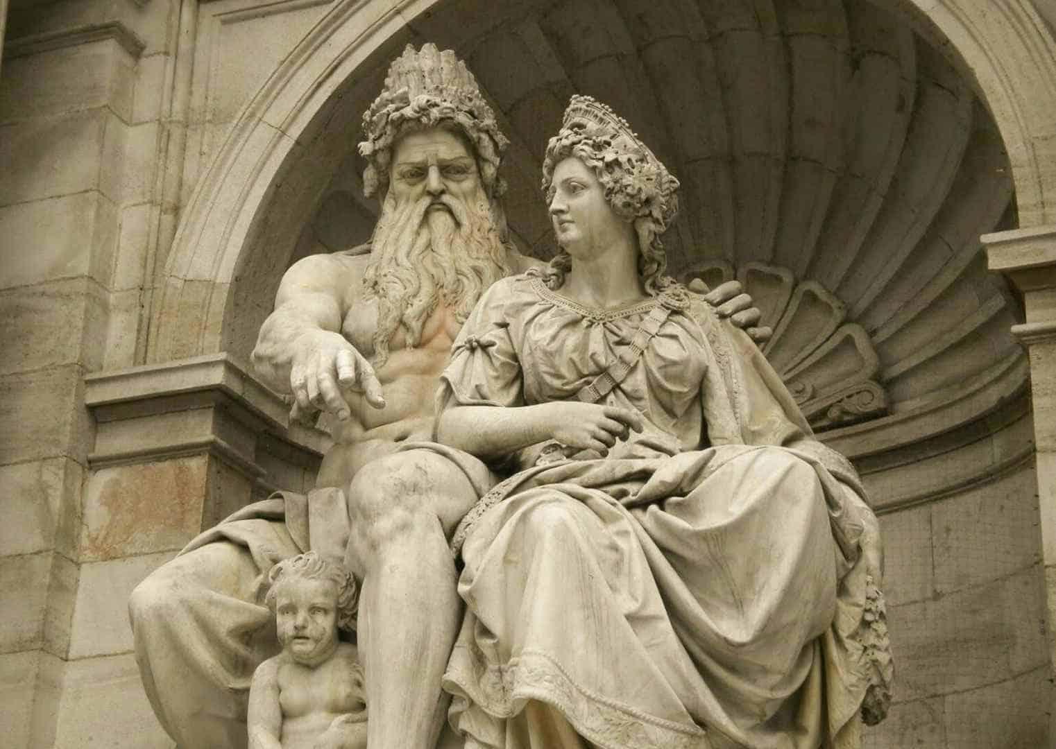 זאוס והרה, כיכר אלברטינה, וינה