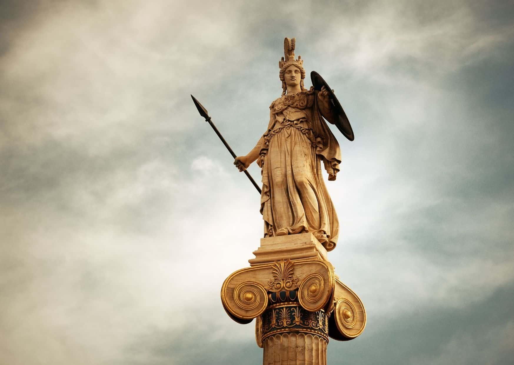 אתנה, האלה הבתולה, פטרונית העיר אתונה